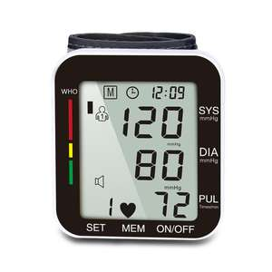 LCD Memory Electric Blood Pressure Meter Wholesale Wrist Watch Blood Pressure Monitor House-service Detector Tester