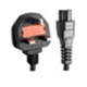 China Factory UK plug to C5 computer monitor power extension cord