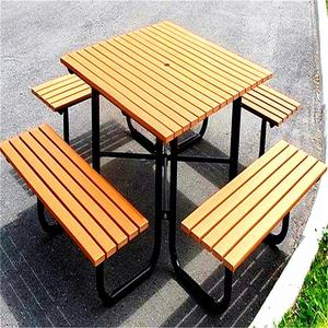china supplier lifetime plastic wood dinning table and chair garden furniture outdoor sets