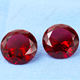 Factory directly supplying 3mm to 20mm Round Brilliant cut Red Crystal glass gemstone wholesale