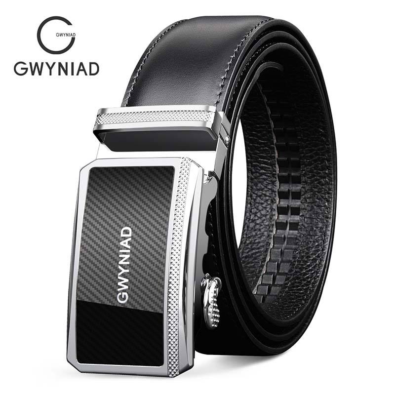 Gift set Ratchet buckle moroccan men leather belts Black design wholesale custom belts