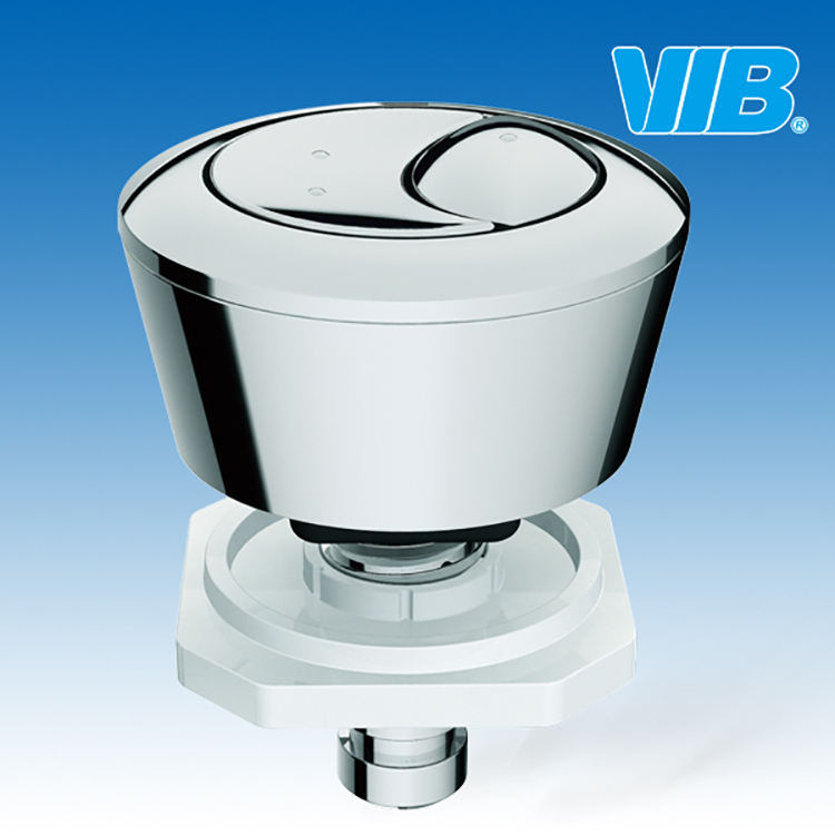 Toilet push button replacement of toilet dual flush button and toilet push button