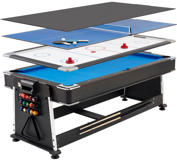 SZX 7ft 4 in 1 Multi functional pool table with air hockey table,dinning table,table tennis table for adult on sales