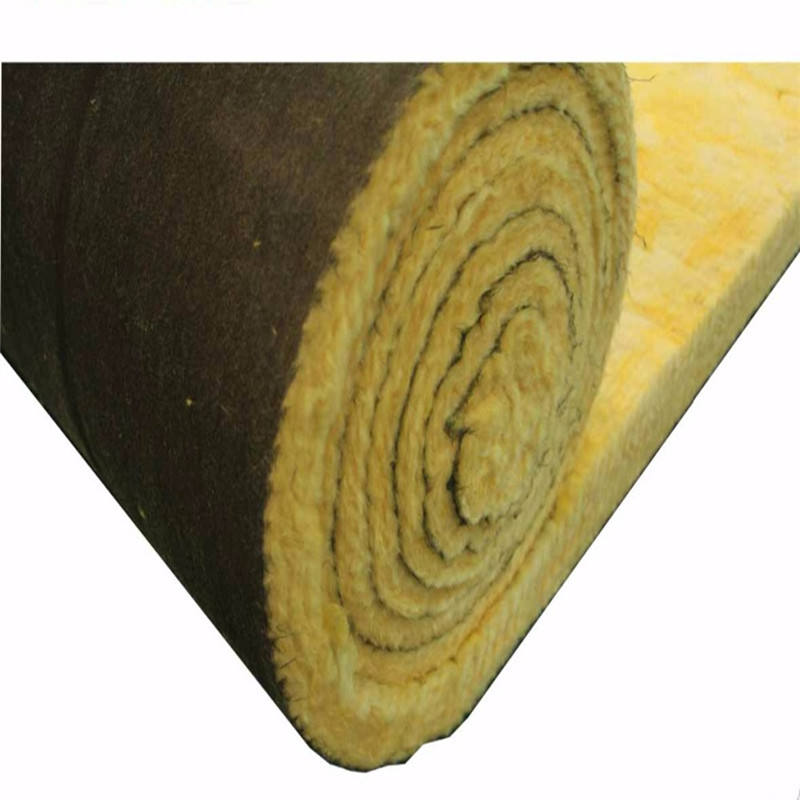 CE certificaterd Glass Wool With Black cloth