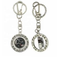 Oneway Suppliers Customized metal spinner keychain compass