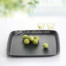 Factory wholesale High quality melamine custom design tea tray ,rectangular hotel towel tray