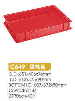 Bakery/ Food Grade/ toast and bread crate/ basket/ 100% Virgin PE/ Stackable / Flat/ 100% Recyclable/ Made in Taiwan