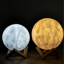 15cm Multicolor full led custom floating 3d printing moon table lamp night light levitating 3d moon lamp