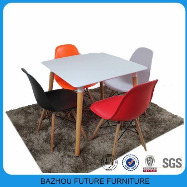 Americano mais vendidos perfeito projeto de madeira ao ar livre mesa de jantar e eames cadeira
