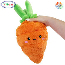 D806 Mini Cartoon Food Carrot Stuffed Plush Toy Vegetable Cartoon Fluffy Soft Carrot Plush Toy