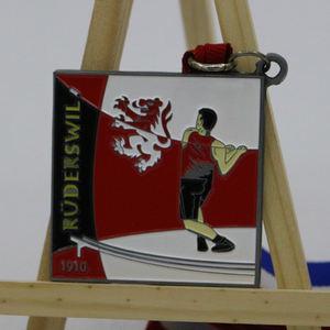 2017 carré vintage argent émail creative art médaille pour marteau sport