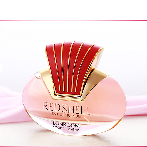 NEW RED shell perfume lindo presente