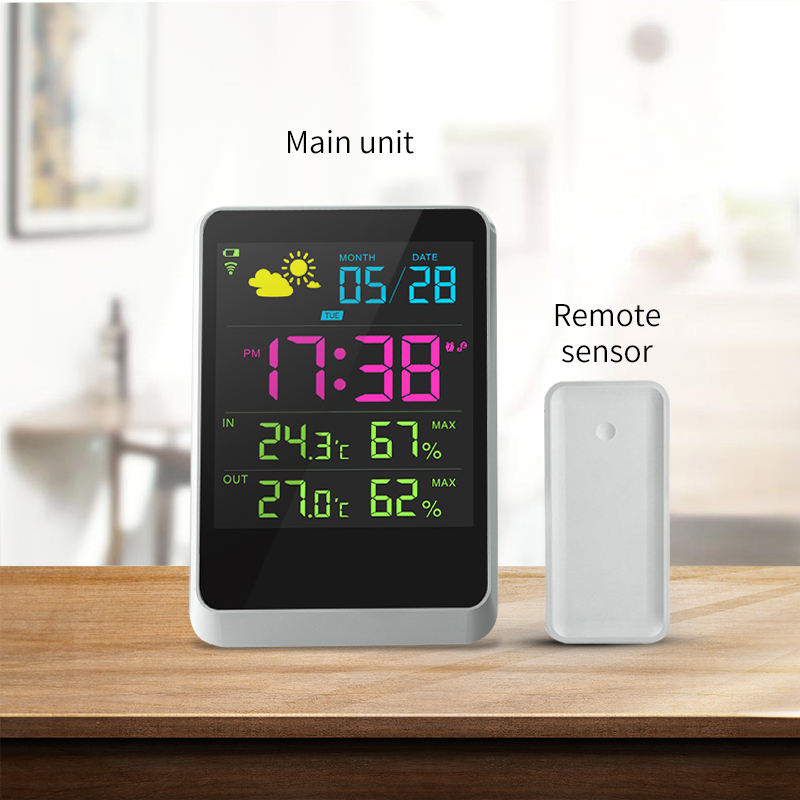 Super weather station, Digital wireless weather station as a good gift, Weather Station with Digital Clock Barometer