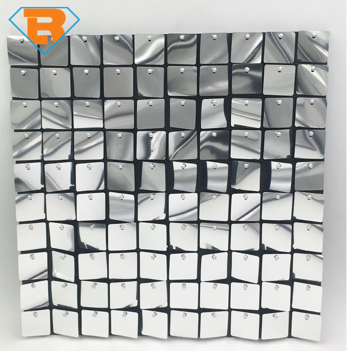 Mirror Effect Shimmer Sequin Wall Panel for Event Decoration