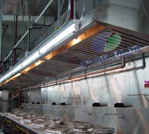 Restaurant Kitchen Exhaust Ventilation Hood with ESP Filter