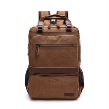 High Quality Laptop Backpack Men's Travel Bags Washable Canvas Shoulder Bag