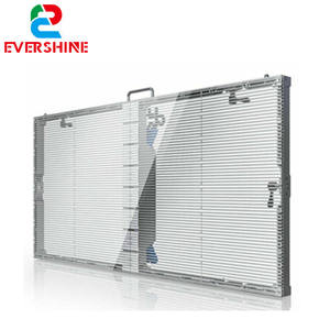 Evershine P3.91-7.82 dimensioni del cabinet 1000x500mm semi-outdoor LED display affitto trasparente bordo dello schermo