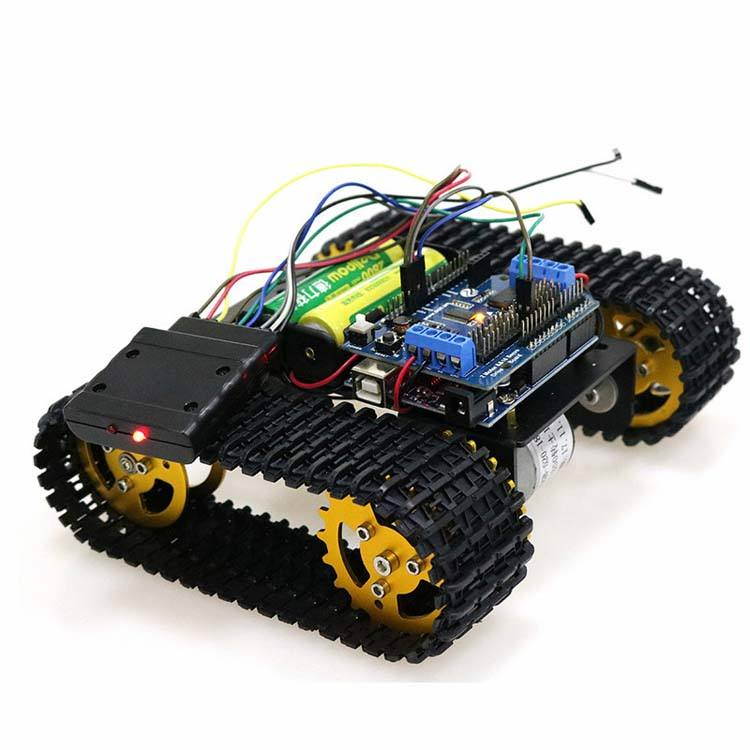 Wireless Control Smart RC Robot Kit by handle joystick Tank Car Chassis with Uno R3 for Motor Shield DIY game play station