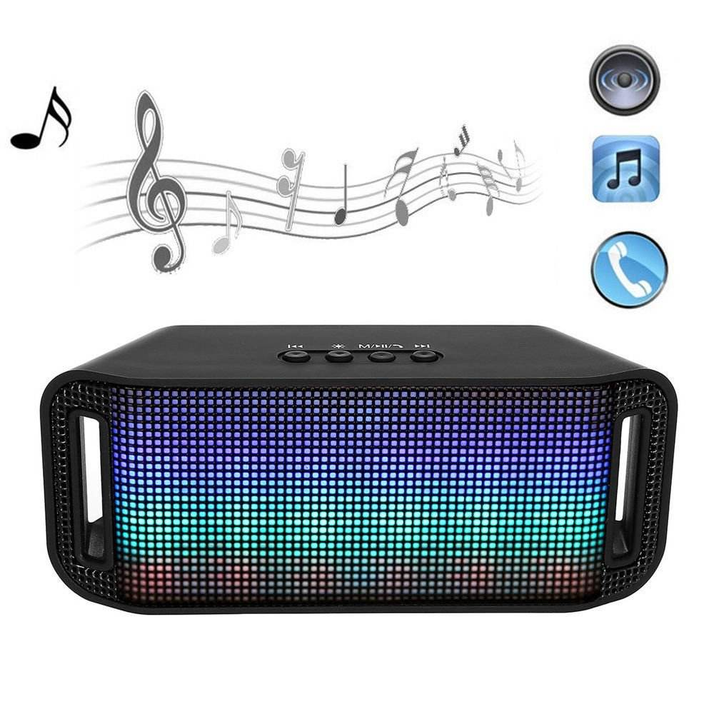 Led flashing light mini waterproof wireless outdoor subwoofer A38 led speaker