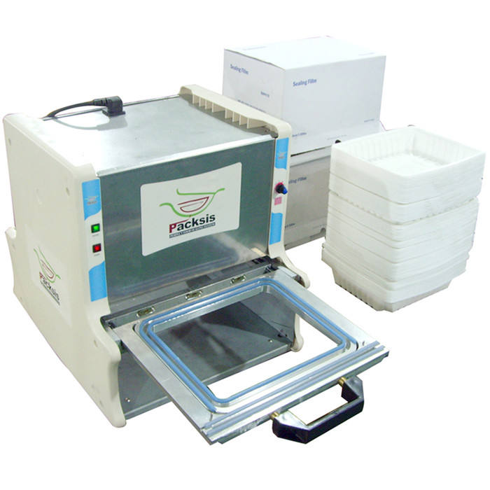 Restaurant Vertical Automatic Fast Food Box Sealing Machine/Food Tray Wrap Machine/Tray Sealing Machine
