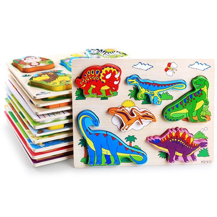 Animals and Digit Learning Education Toy wood 3d jigsaw puzzle animal wooden puzzle animal toy for kids