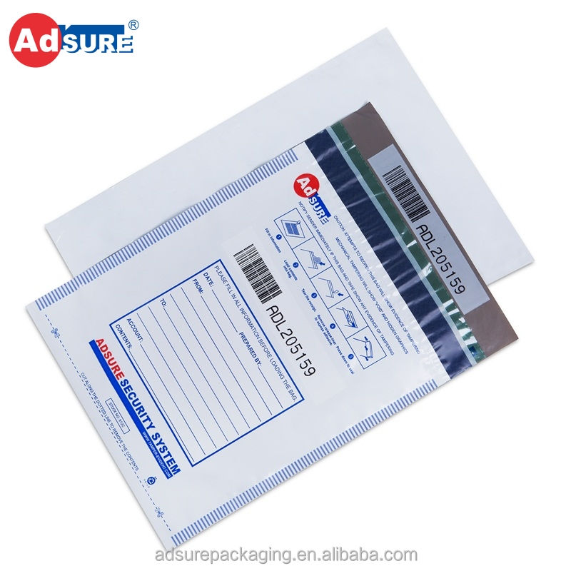 Adsure Standard Tamper Evident Security Bags for Bank Deposit/Evidence Collection/Confidential Document