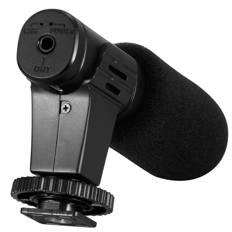 New interview recording microphone for smart phone camera with recording monitoring function