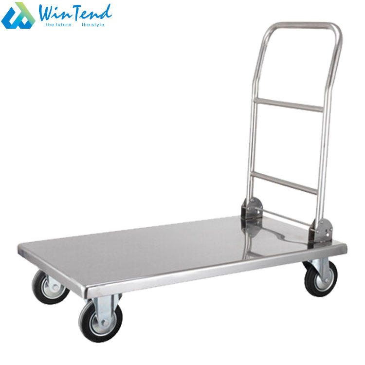 Stainless steel platform foldable hand trolley for transport
