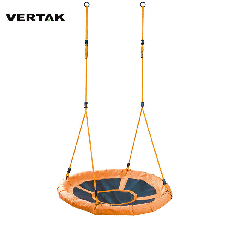 "VERTAK 220 lb indoor outdoor patio swings 40"" saucer round nest tree swings for kids"