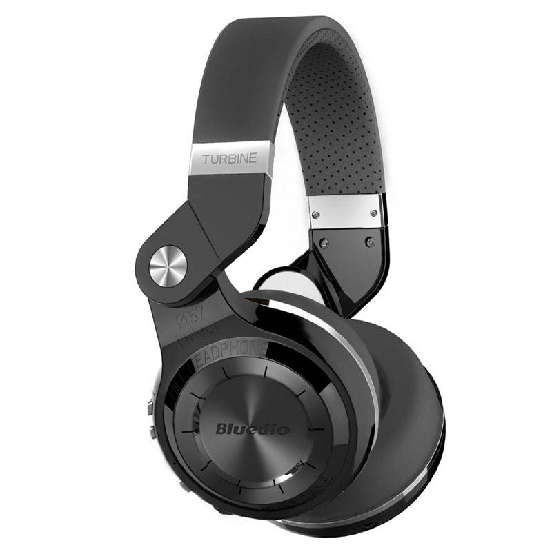 Bluedio T2 + 5.0 Nirkabel Bluetooth Headphone Super Bass Suara dengan MIC/Micro Kartu SD Slot/FM <span class=keywords><strong>radio</strong></span> (Hitam)