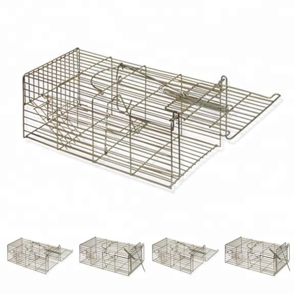 Pest control galvanized metal live animal catcher mouse rat humane cage trap