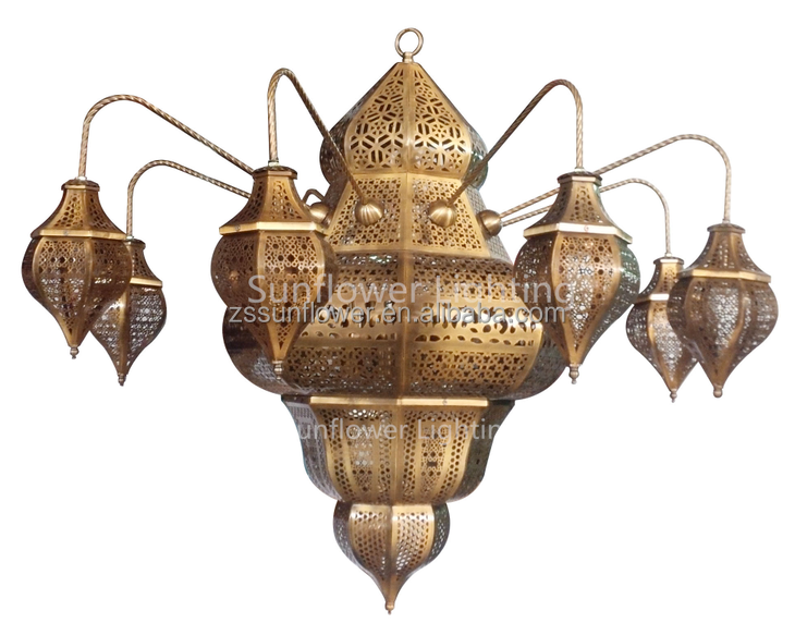 Islamic style handmade antique iron chandelier