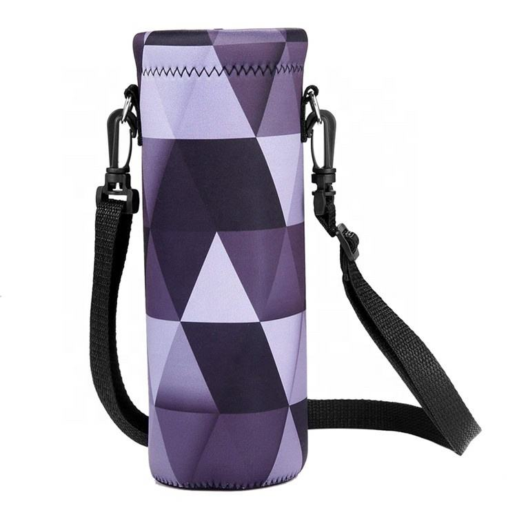 Insulated Neoprene Out-door Sports Adjustable Shoulder Strap Water Bottle Holder Bottle Cover
