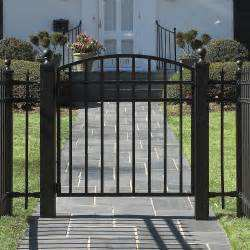 Decorative House Driveway Wrought Iron Garden Fence, designs for steel fence panels, black steel fence gate