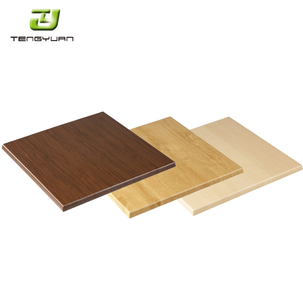 Table And Chair Wood/MDF/melamine/HPL Table Top With Cast Iron Metal Leg Dining Restaurant Table