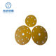 5 Inch 6Holes Dustless Hook and Loop Gold Sanding Discs sandpaper