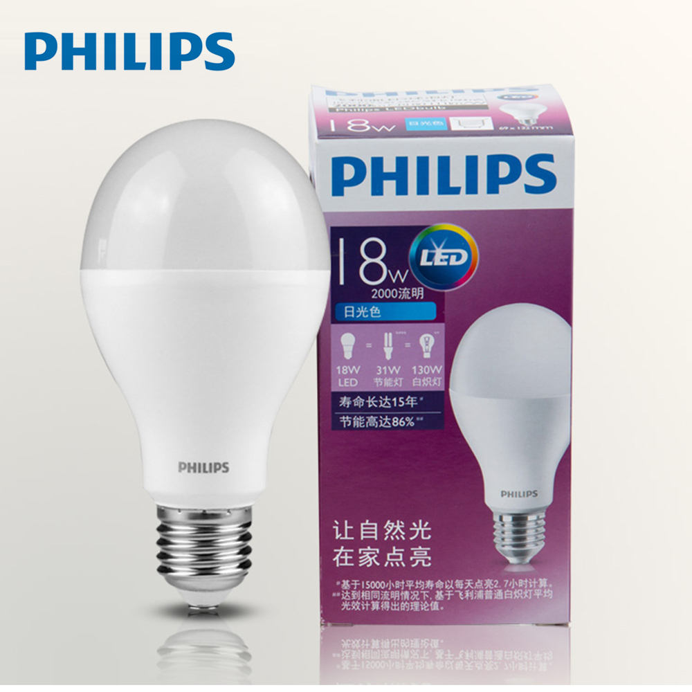 Original PHILIPS Economy LED E27 18W 6500K Philips LED bulb
