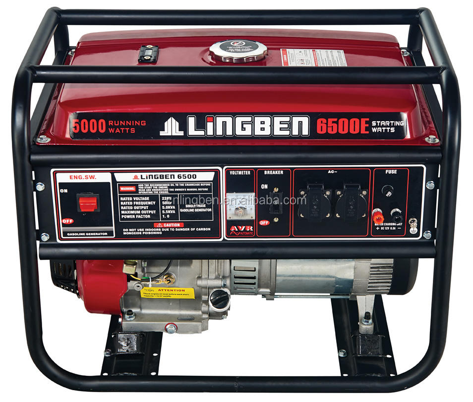 Lingben China Battery Operated For Electric Start 5kva honda generator prices