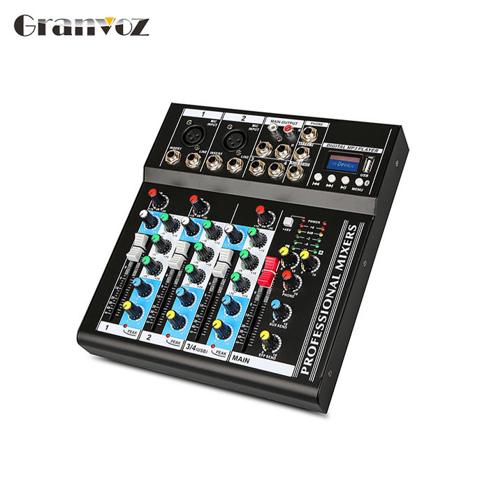 DJ Stereo Amplifier 4 Channel USB Bertenaga Mixer