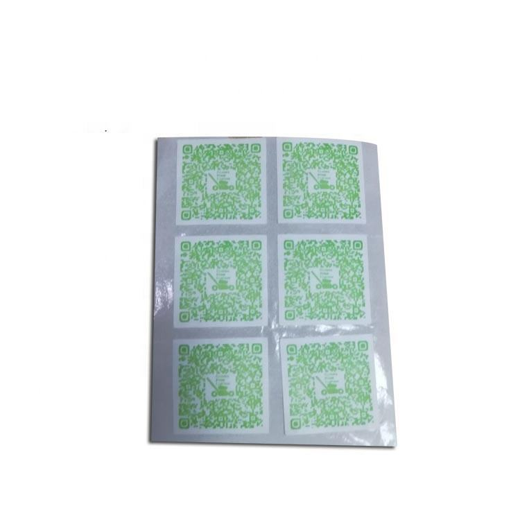 QR code sticker printing a4 self adhesive paper sticker