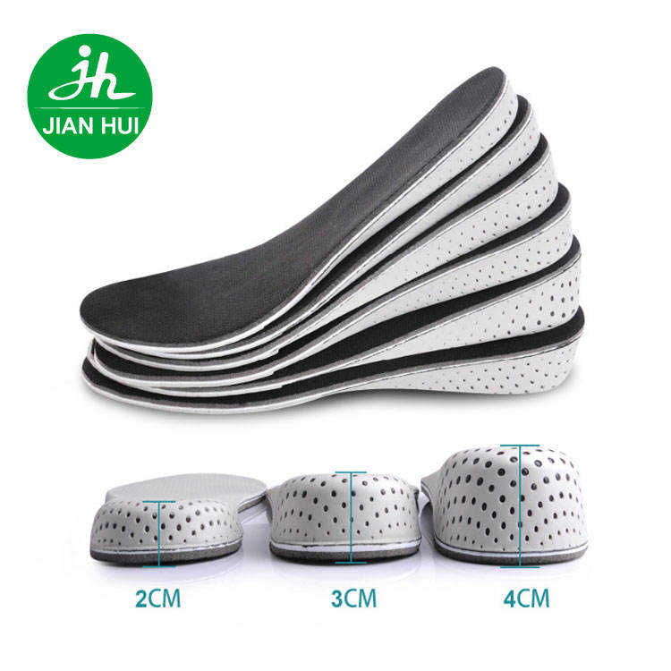 Dongguan Insole factory EVA memory foam insoles shoes lift 2 cm 4cm high increasing insoles