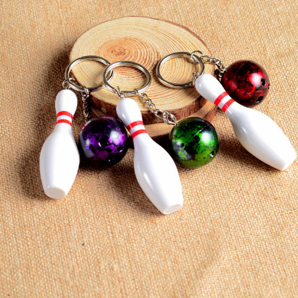 new Spots Souvenir Gift Logo Accepted Plastic Bowling Key Chain