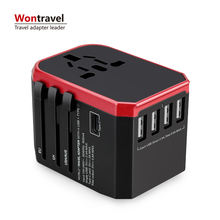 Worldwide travel adapter plug Type C quick charger power adaptor mobile phone charger universal wall socket
