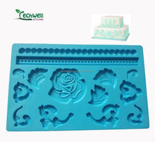 FD-002 silicone fondant molds for cake decorating