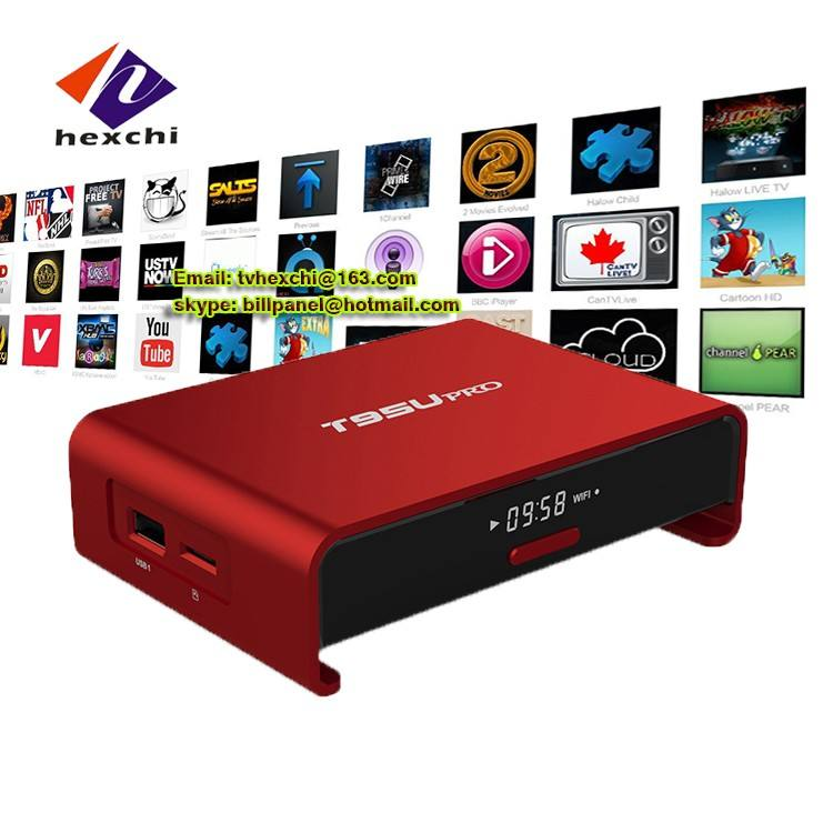 smart tv box T95U ott tv box T95U 802.11 ac/n/g/b 2.4G/5G wifi google play store app dvb s2 android tv box T95U