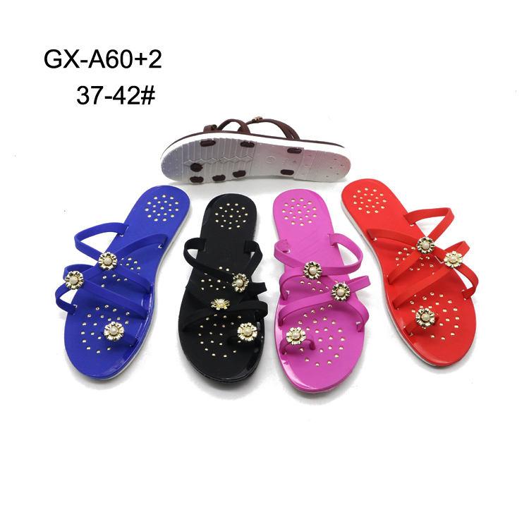 Fancy Pvc Girls Flat Sandal Slide Footwear Slippers Chappal for Ladies Sandal
