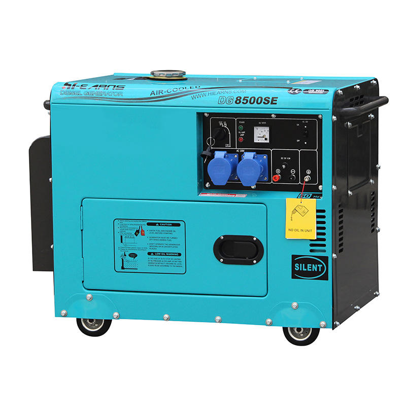 Diesel Fuel Type 6KW Rated Power Air-cooled silent generator