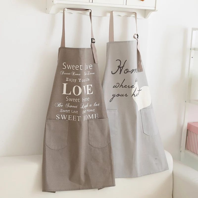 Advertising Apron with company logo custom in cotton digital printed oil proof Logo printed apron