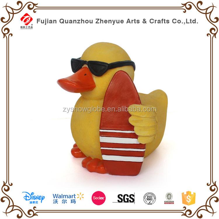 Minion pato amarillo, Polyresin pato amarillo decoración, pato de goma amarillo juguete