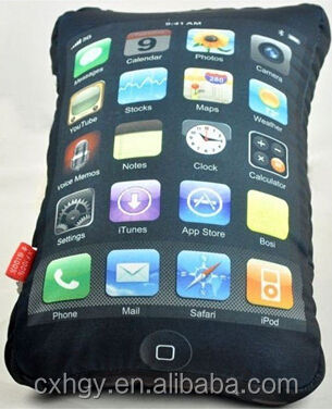 cushion pillow for iphone 4 ipad novelty app fun unique Lycra bedding pillow